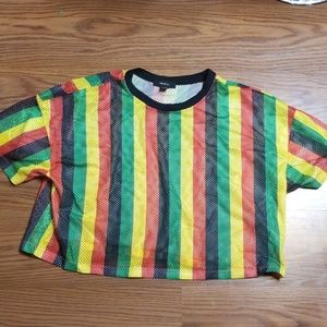 3X Jamaican Crop Top (Forever 21)